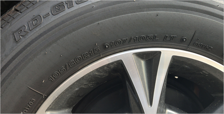 タイヤの側面